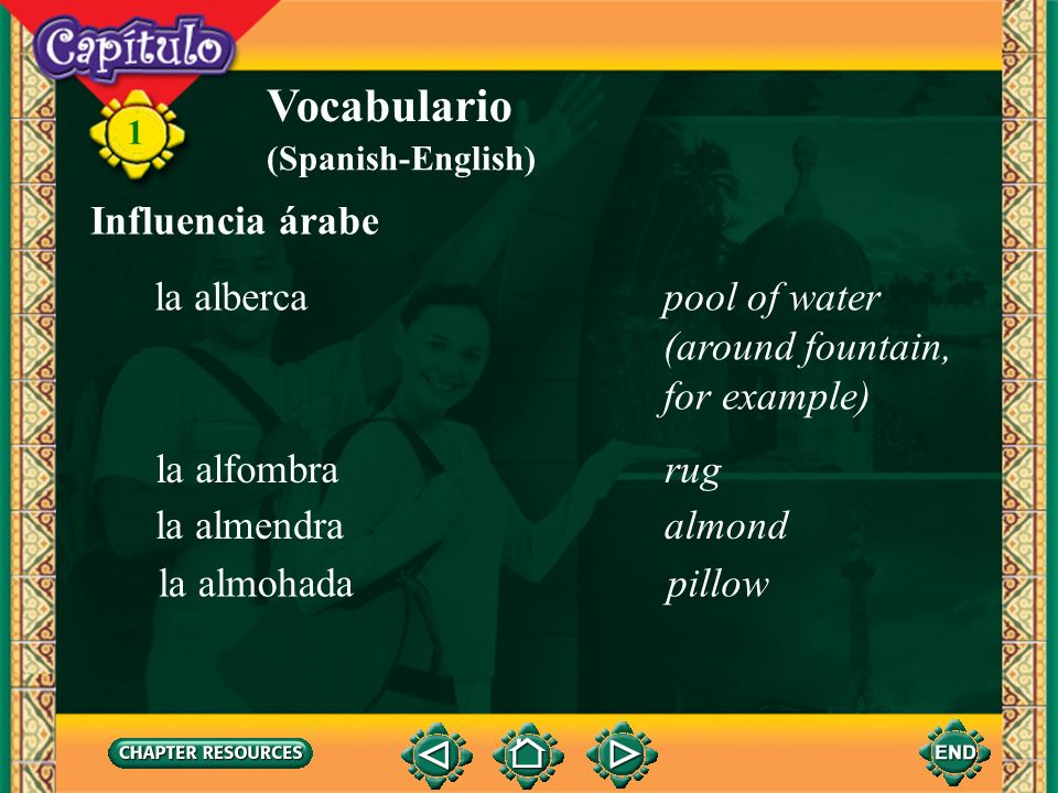Vocabulario Influencia árabe la alberca