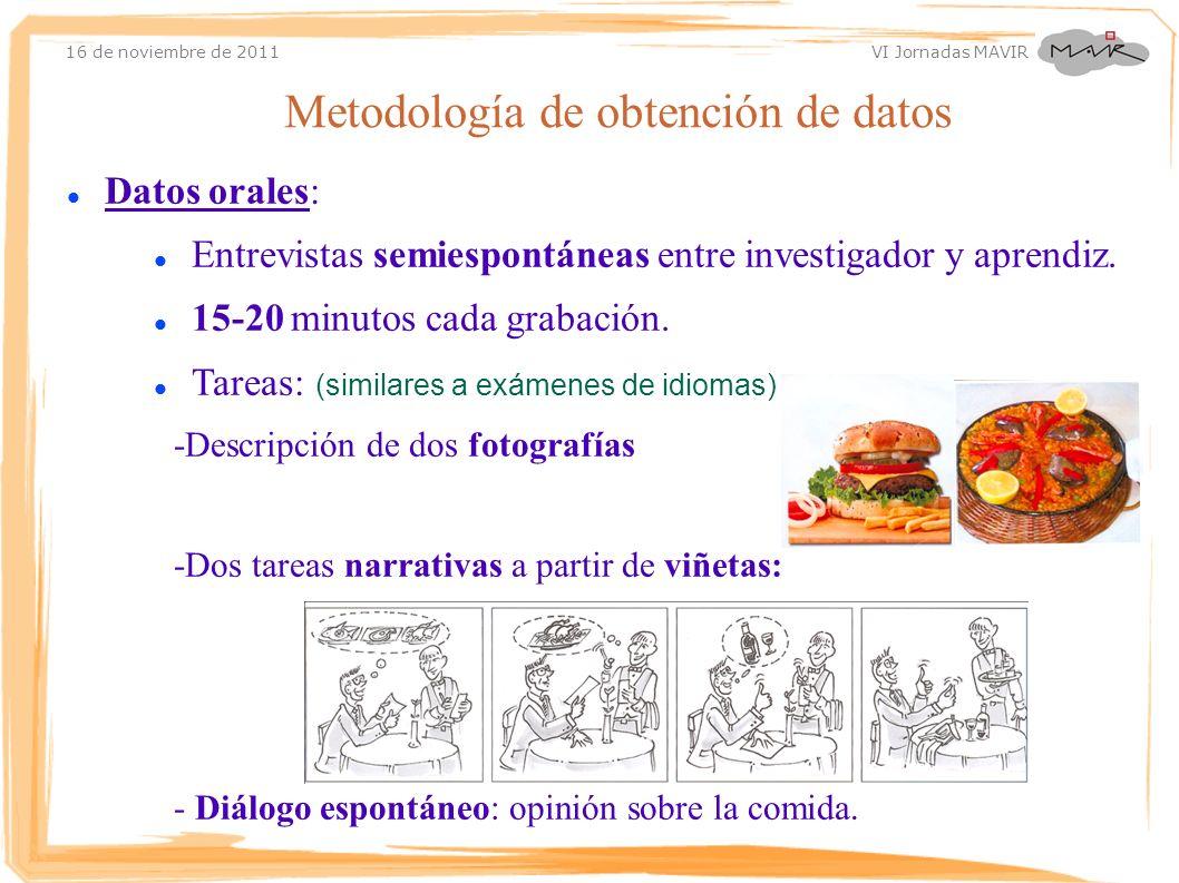 Metodología de obtención de datos