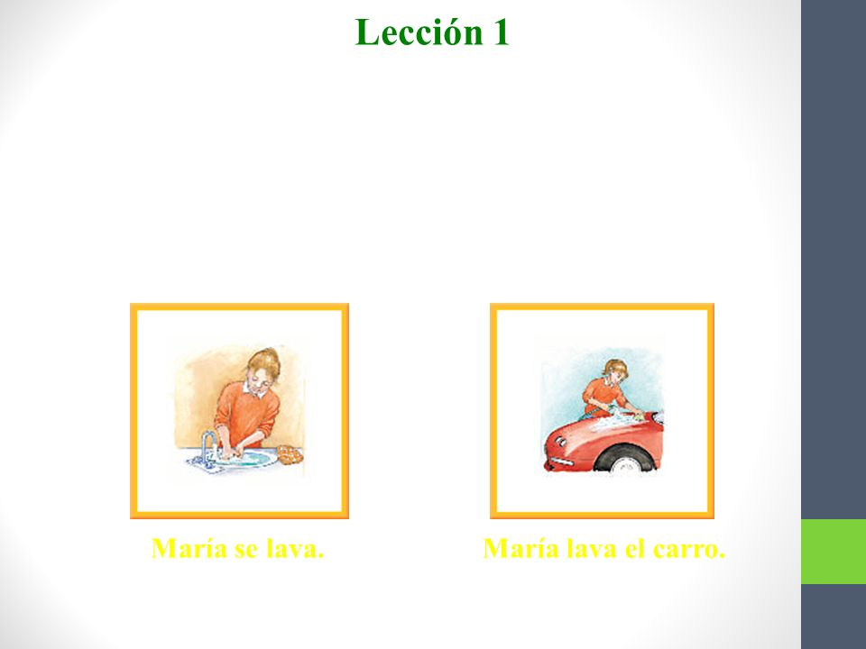 Lección 1 Verbos reflexivos