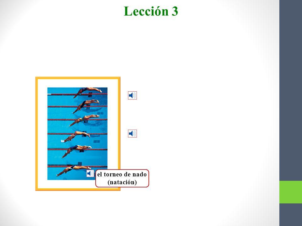 el torneo de nado (natación)