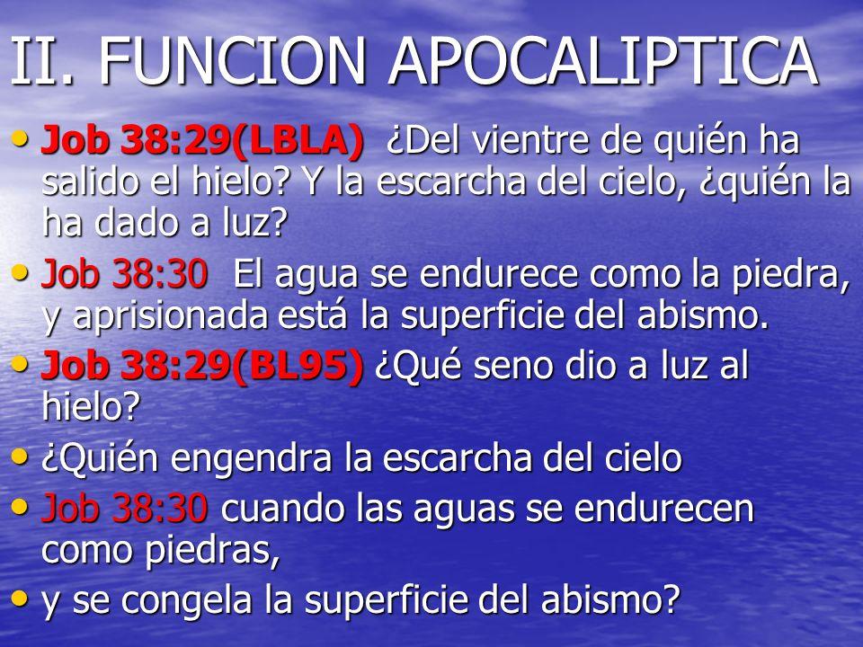II. FUNCION APOCALIPTICA