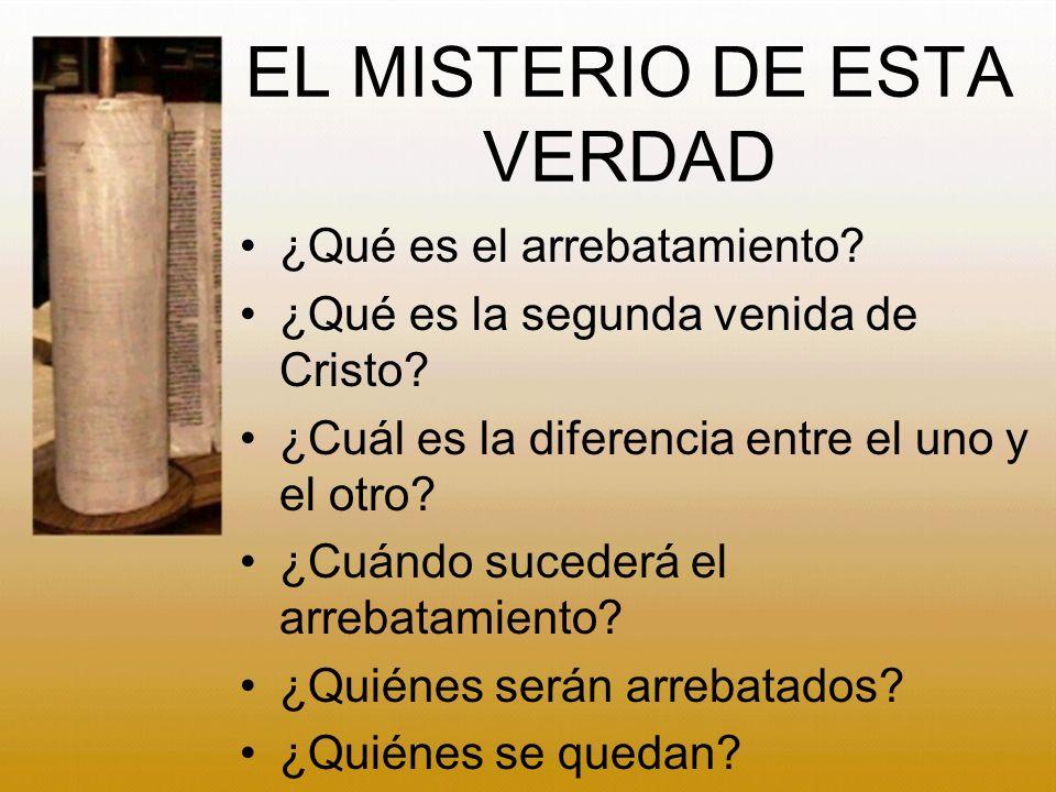EL MISTERIO DE ESTA VERDAD