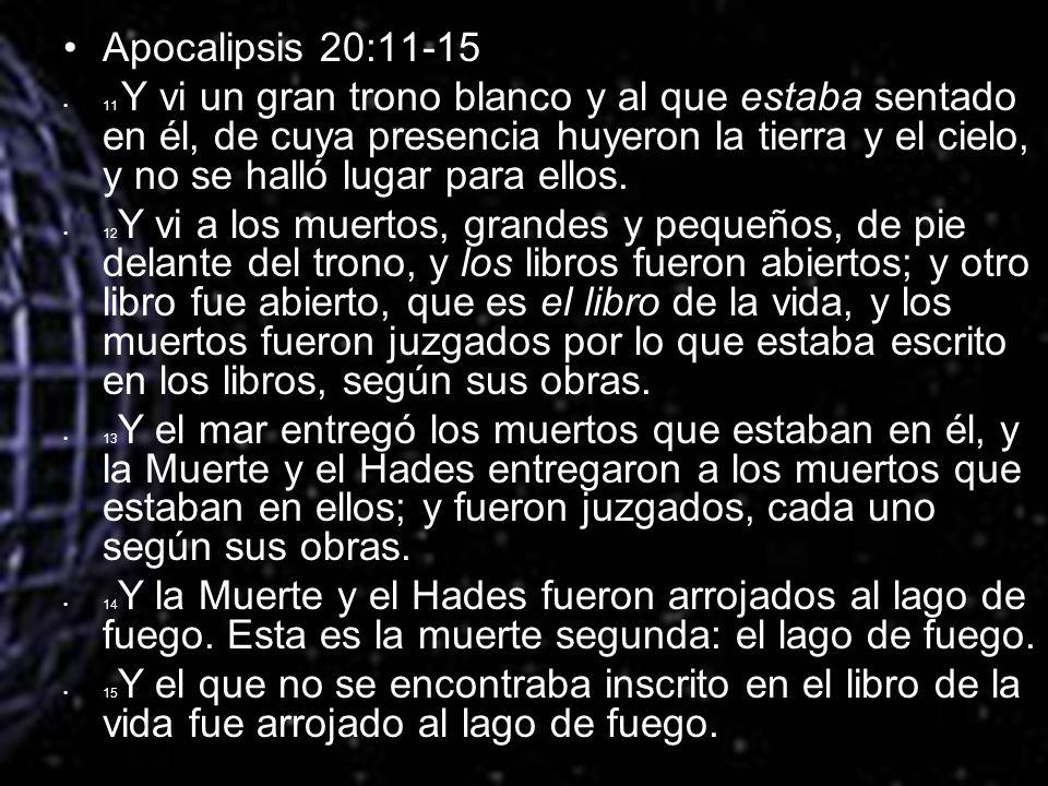Apocalipsis 20:11-15