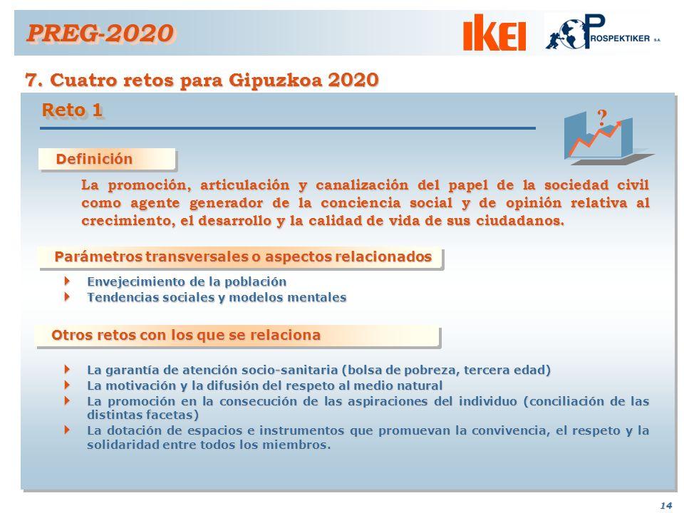 PREG-2020 7. Cuatro retos para Gipuzkoa 2020 Reto 1