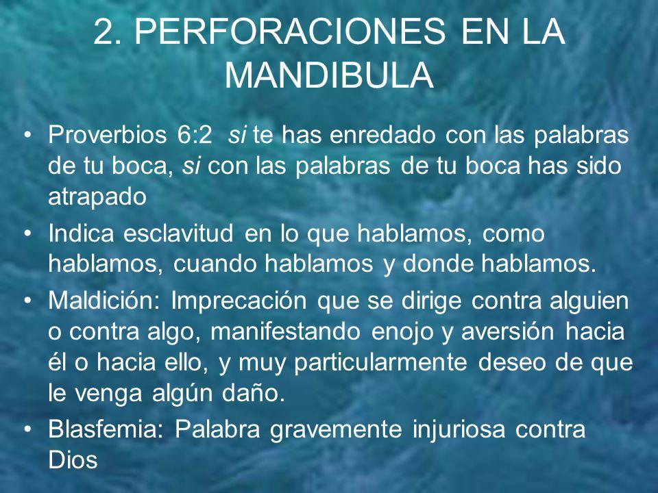 2. PERFORACIONES EN LA MANDIBULA