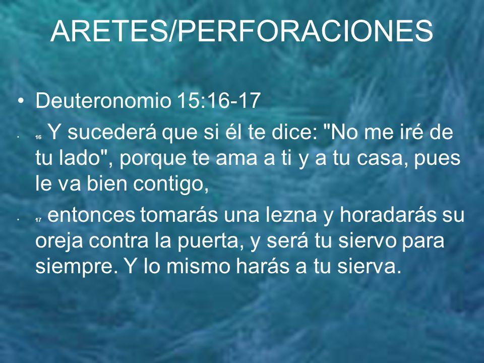 ARETES/PERFORACIONES