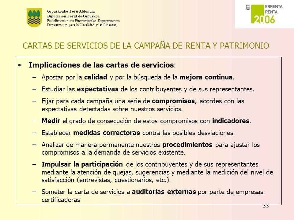 CARTAS DE SERVICIOS DE LA CAMPAÑA DE RENTA Y PATRIMONIO