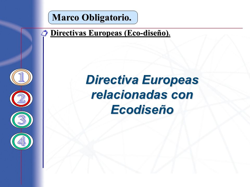 Directiva Europeas relacionadas con Ecodiseño