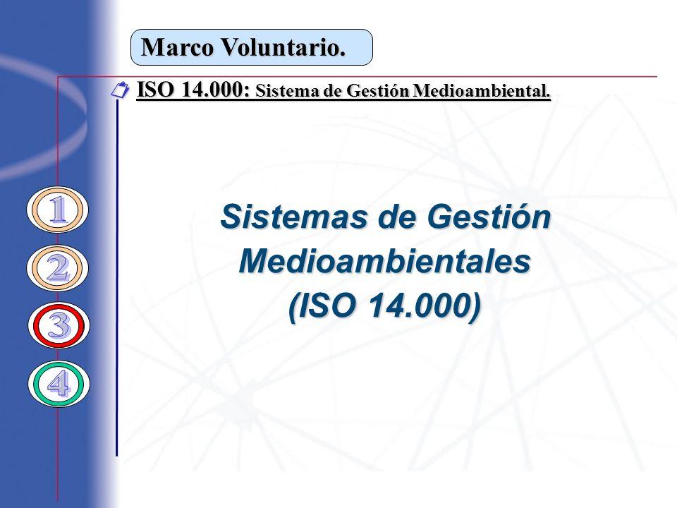Sistemas de Gestión 1 Medioambientales (ISO 14.000) 2 3 4