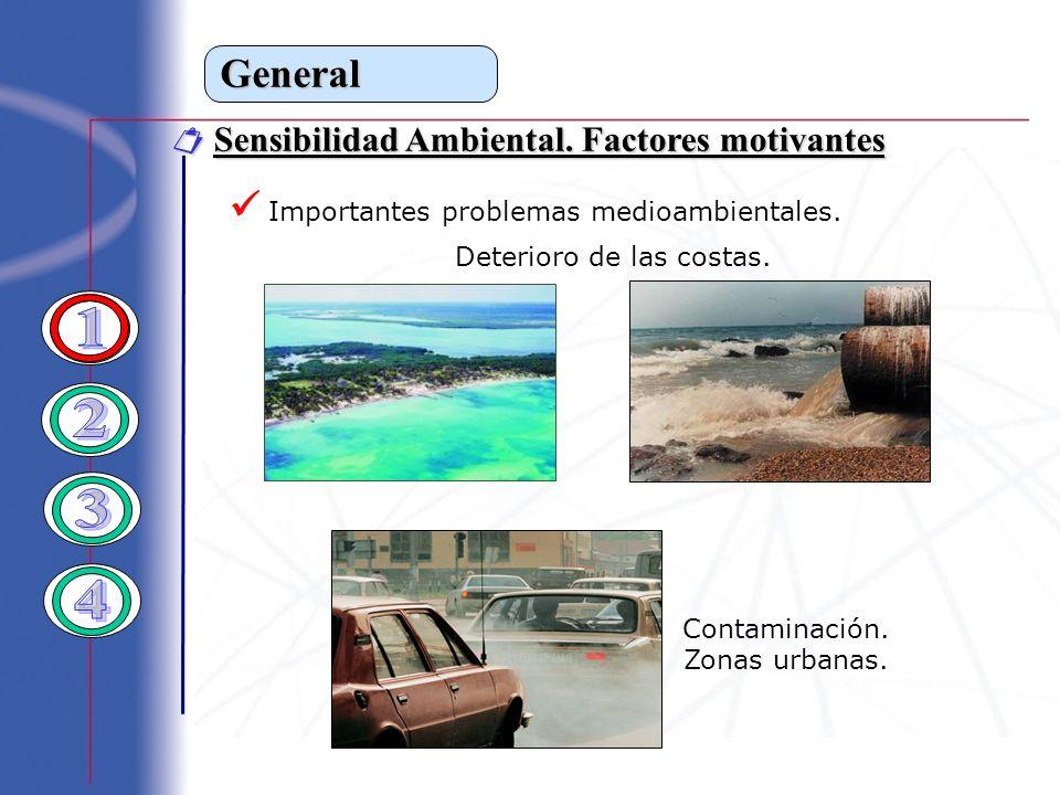 1 2 3 4 General  Importantes problemas medioambientales.
