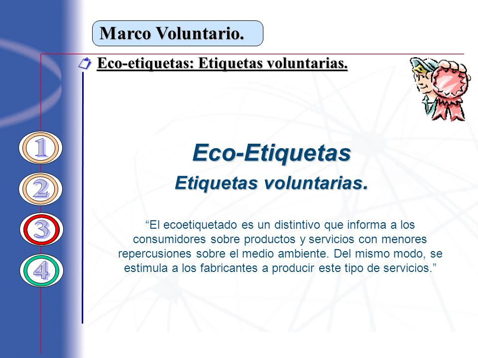 Etiquetas voluntarias.