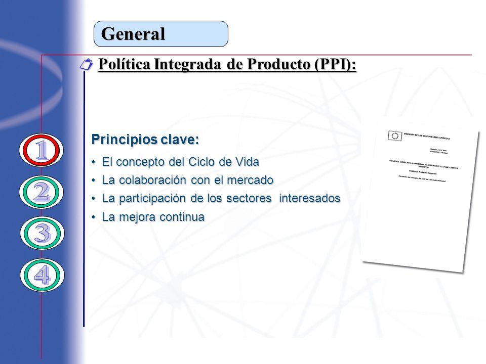 1 2 3 4 General  Política Integrada de Producto (PPI):