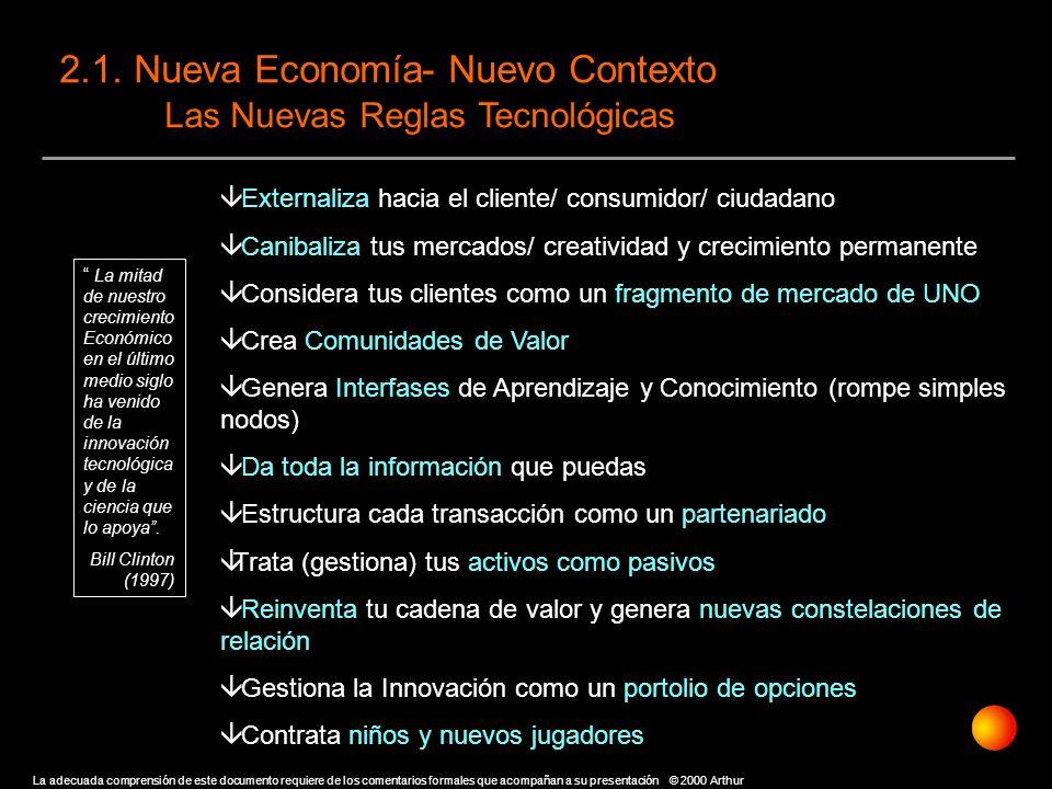 2.1. Nueva Economía- Nuevo Contexto Las Nuevas Reglas Tecnológicas