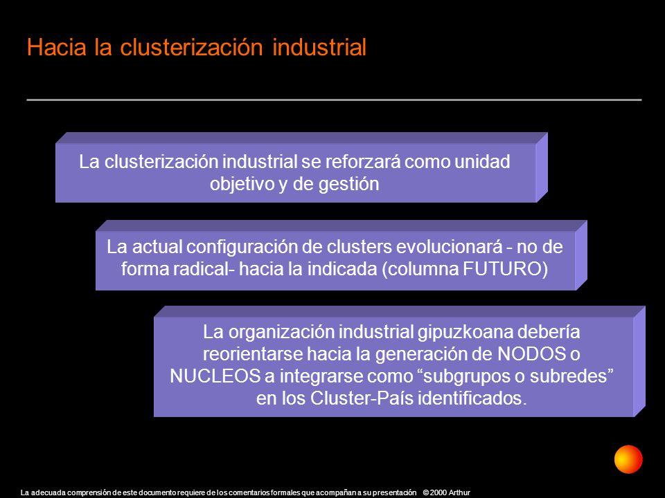 Hacia la clusterización industrial