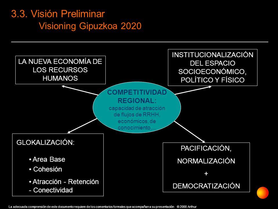 3.3. Visión Preliminar Visioning Gipuzkoa 2020