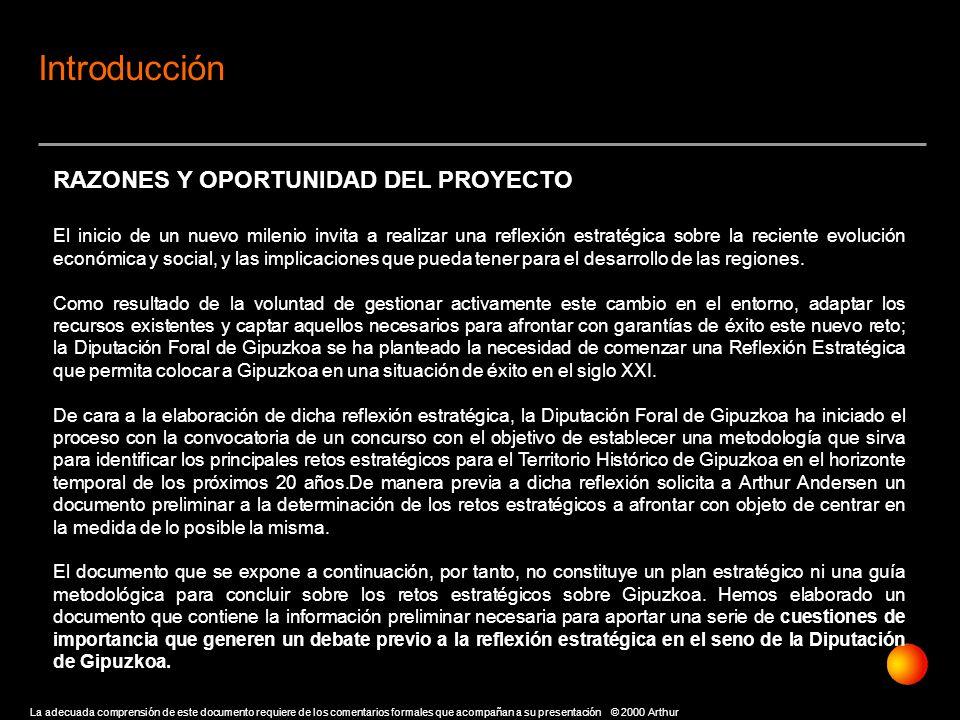 Introducción RAZONES Y OPORTUNIDAD DEL PROYECTO