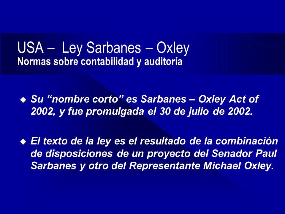 sarbanes oxley scenario