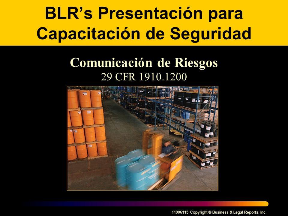 BLR's Presentación para Capacitación de Seguridad