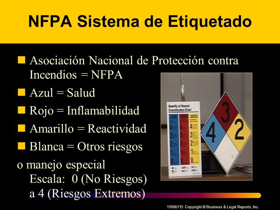 NFPA Sistema de Etiquetado