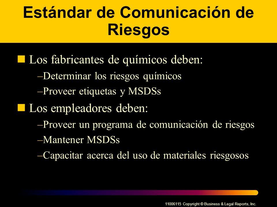 Estándar de Comunicación de Riesgos