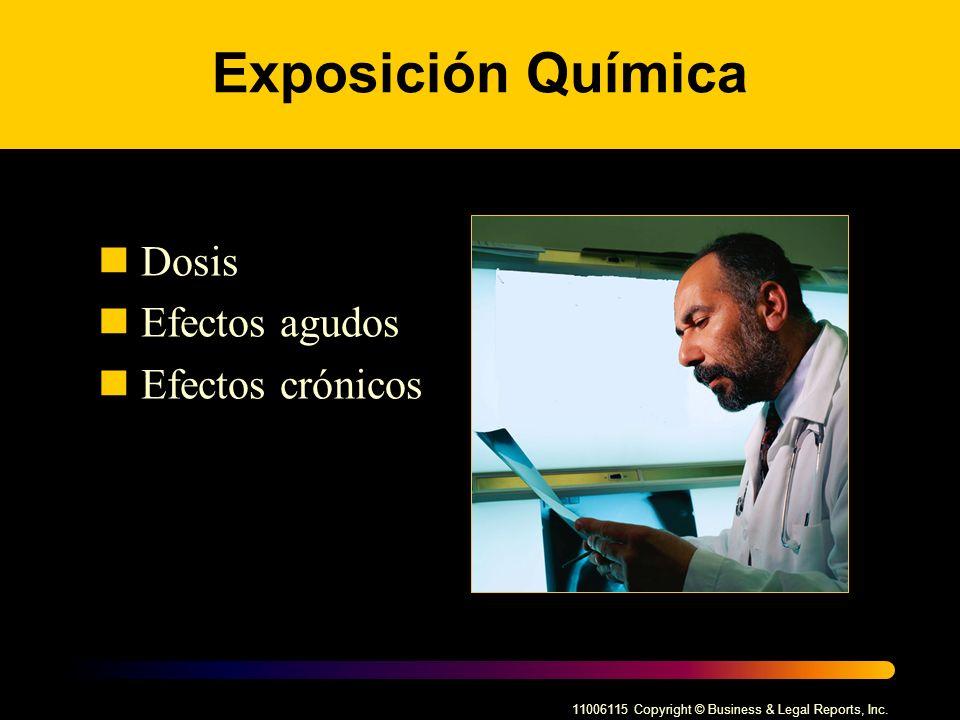 Exposición Química Dosis Efectos agudos Efectos crónicos