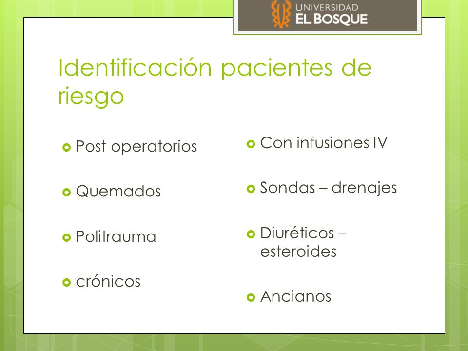 Identificación pacientes de riesgo