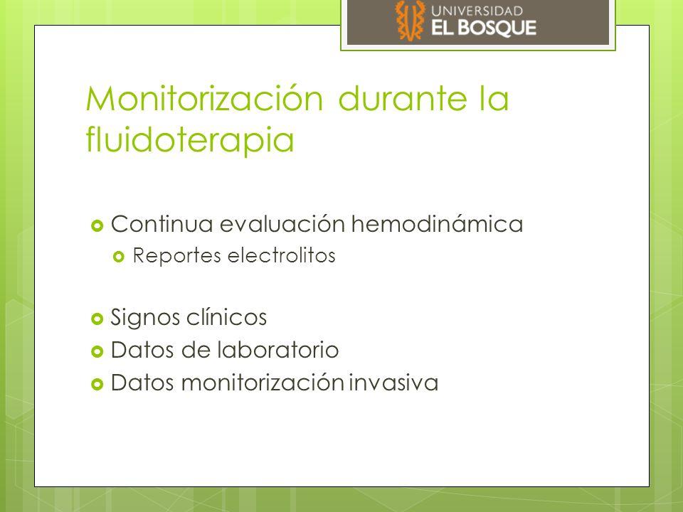 Monitorización durante la fluidoterapia