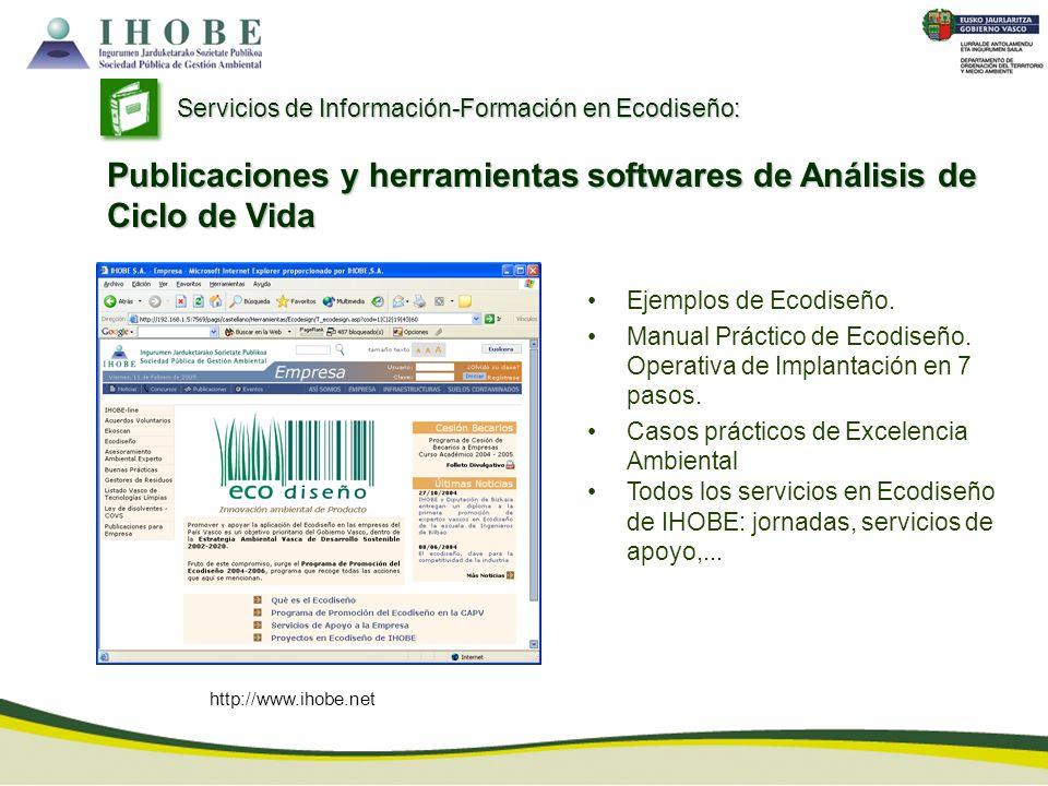 Publicaciones y herramientas softwares de Análisis de Ciclo de Vida