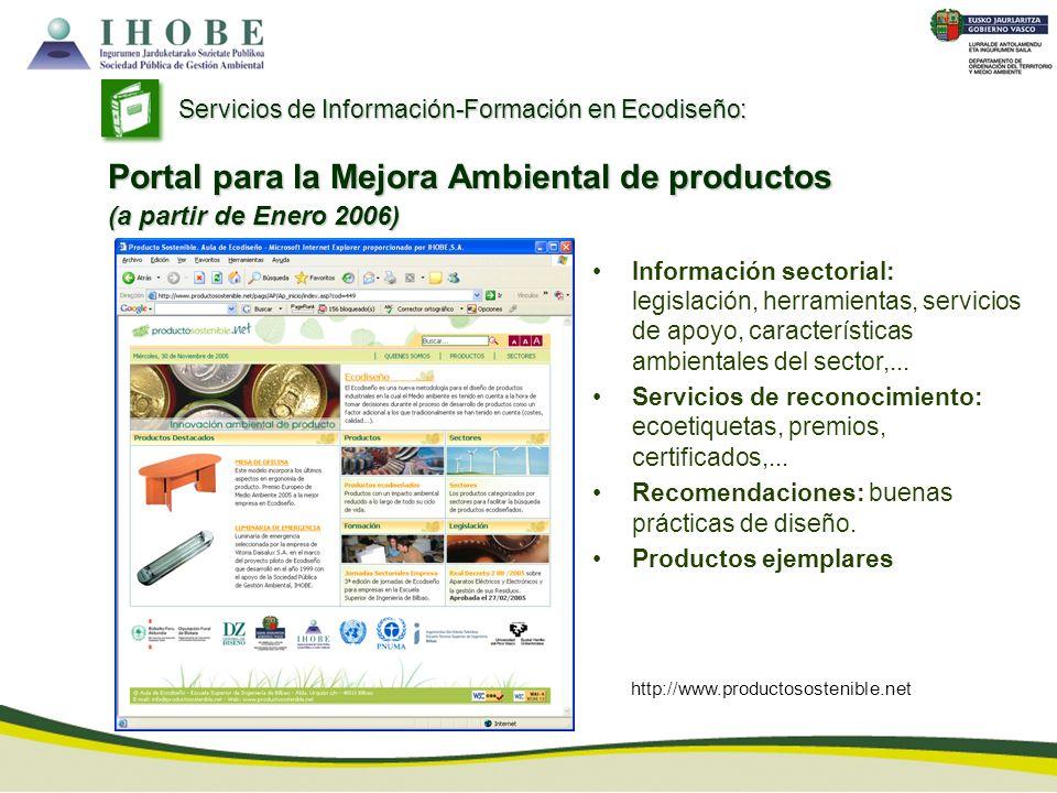 Portal para la Mejora Ambiental de productos