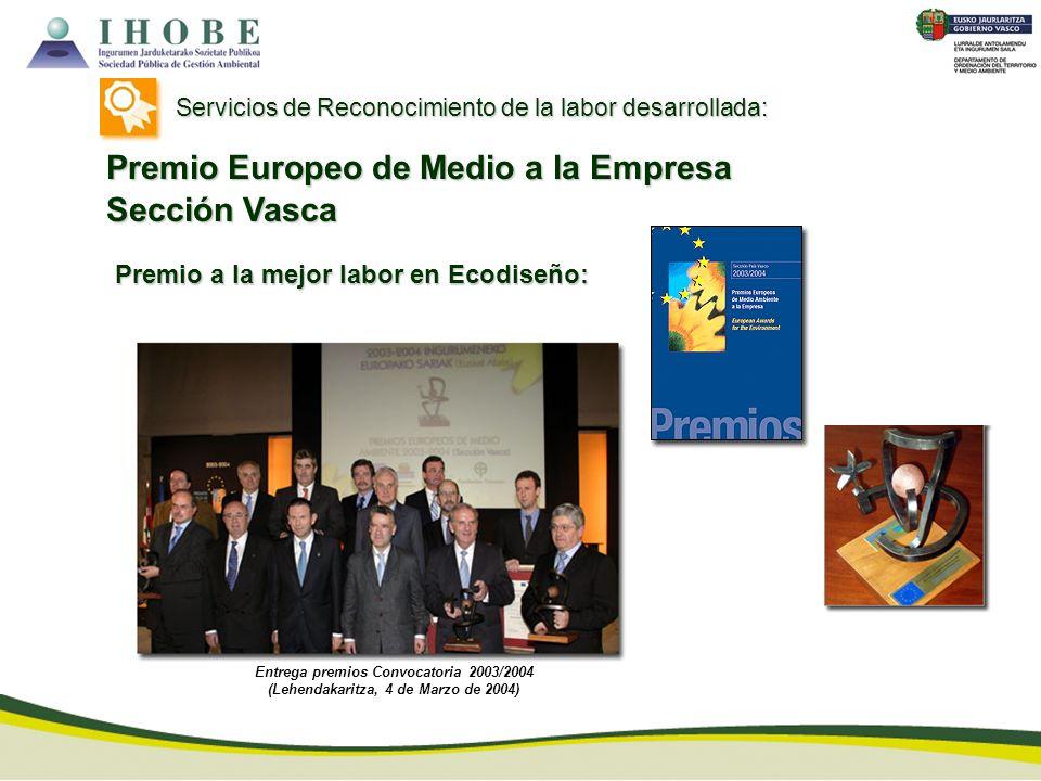 Premio Europeo de Medio a la Empresa Sección Vasca