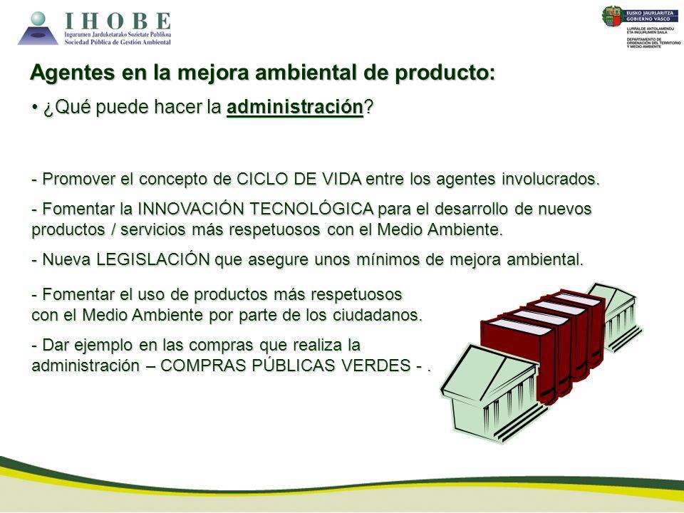 Agentes en la mejora ambiental de producto:
