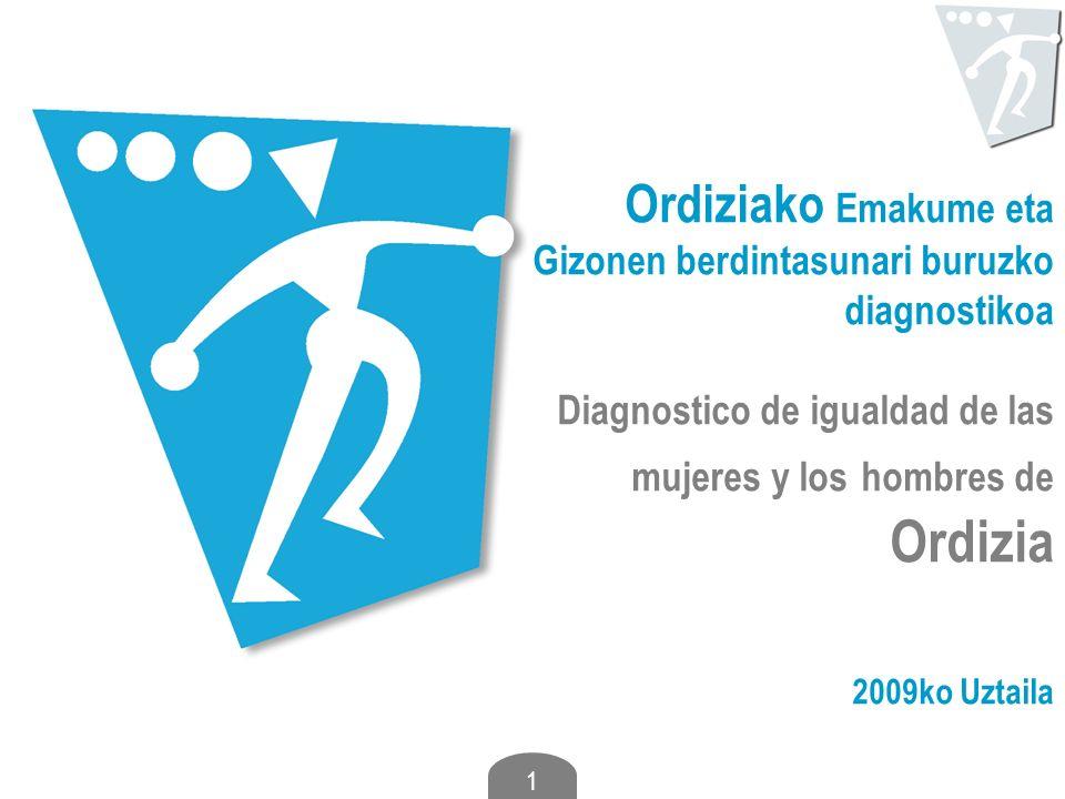 Ordiziako Emakume eta Gizonen berdintasunari buruzko diagnostikoa Diagnostico de igualdad de las mujeres y los hombres de Ordizia 2009ko Uztaila