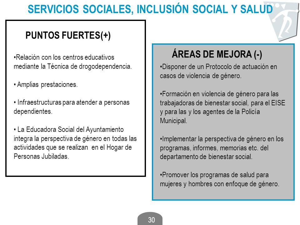 SERVICIOS SOCIALES, INCLUSIÓN SOCIAL Y SALUD