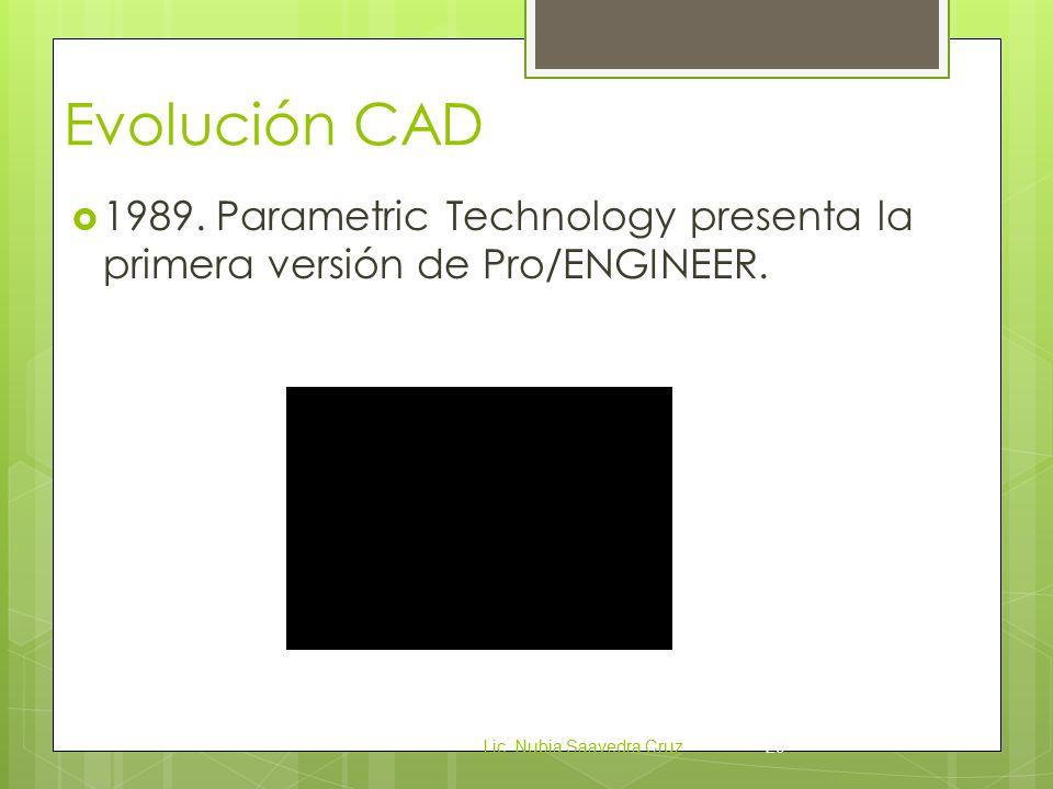 Evolución CAD 1989. Parametric Technology presenta la primera versión de Pro/ENGINEER.