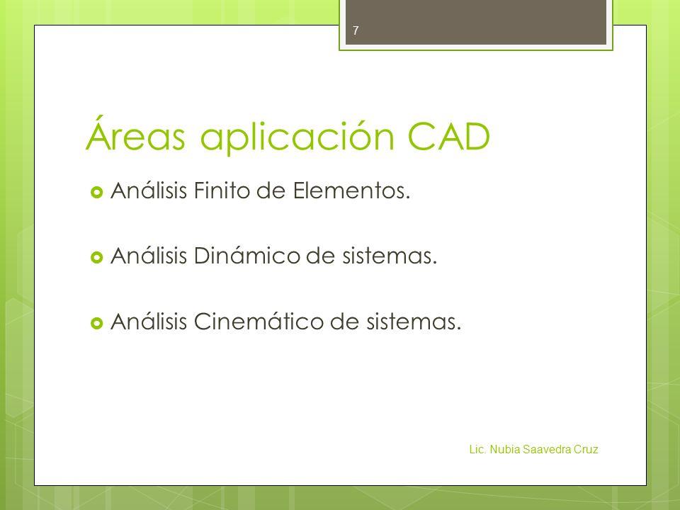 Áreas aplicación CAD Análisis Finito de Elementos.