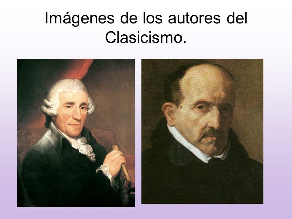 Imágenes de los autores del Clasicismo.