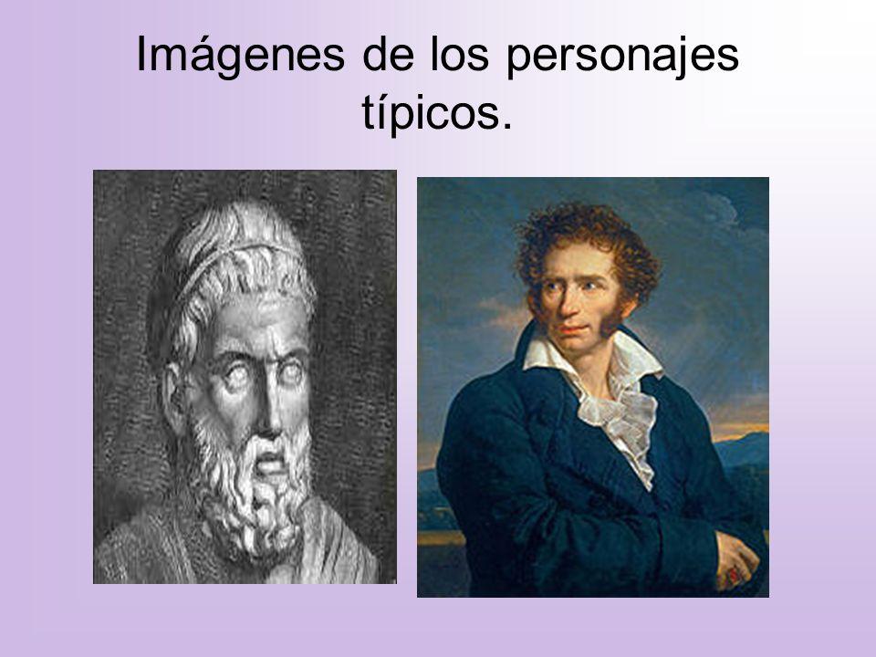 Imágenes de los personajes típicos.