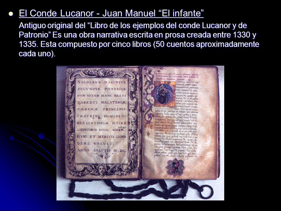 El Conde Lucanor - Juan Manuel El infante