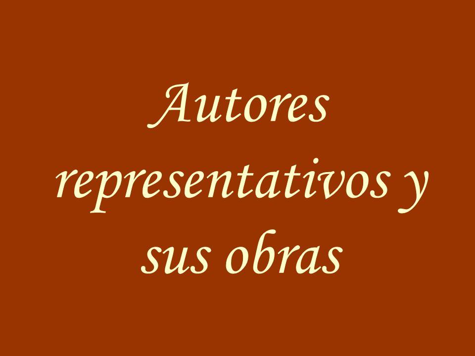 Autores representativos y sus obras