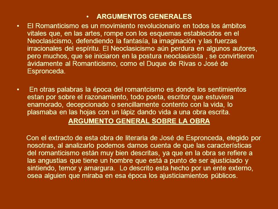 ARGUMENTO GENERAL SOBRE LA OBRA