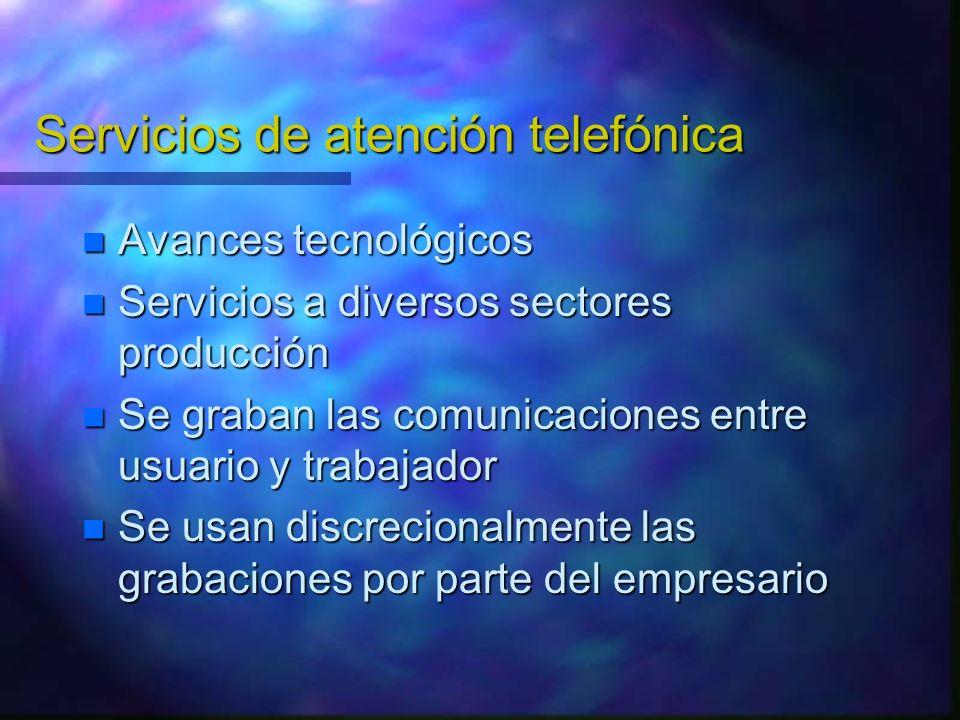 Servicios de atención telefónica
