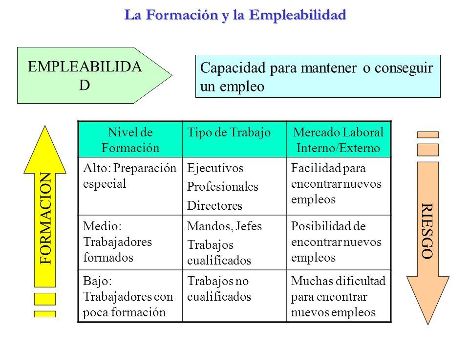 La Formación y la Empleabilidad La Formación y la Empleabilidad