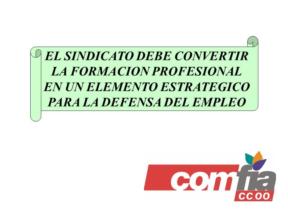 EL SINDICATO DEBE CONVERTIR LA FORMACION PROFESIONAL