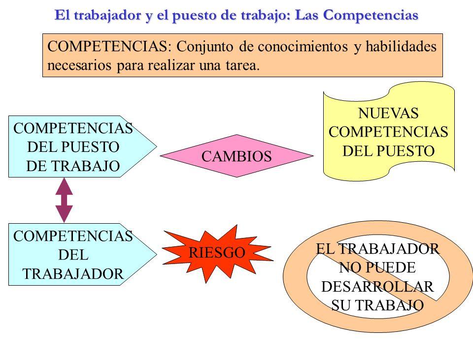 El trabajador y el puesto de trabajo: Las Competencias
