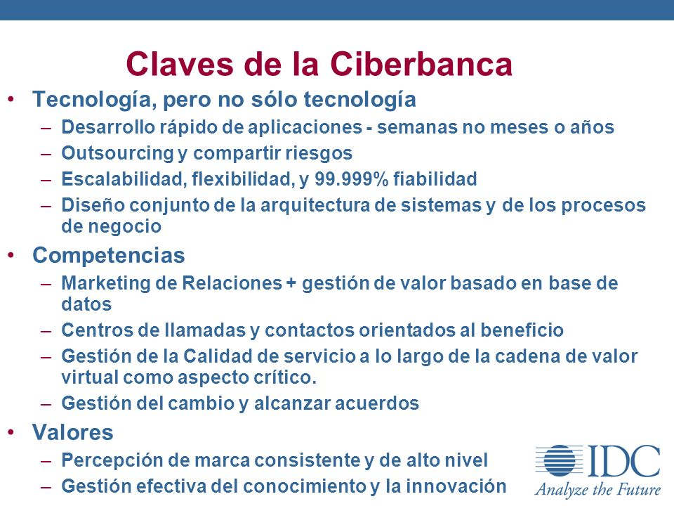 Claves de la Ciberbanca