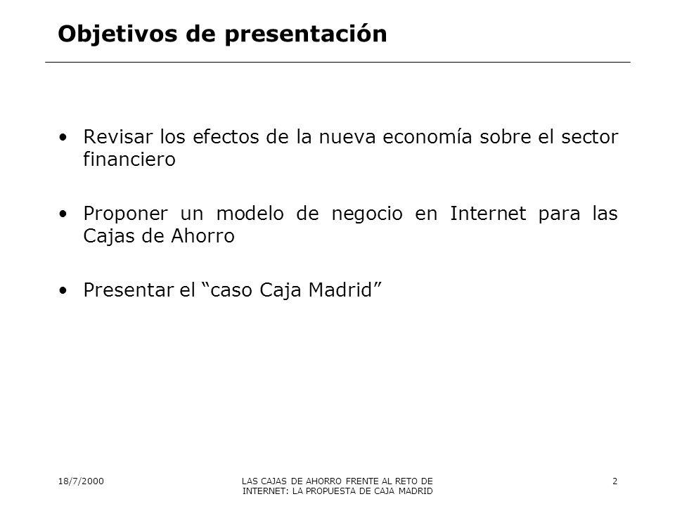 Objetivos de presentación
