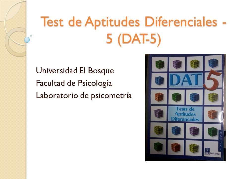 Test de Aptitudes Diferenciales -5 (DAT-5)