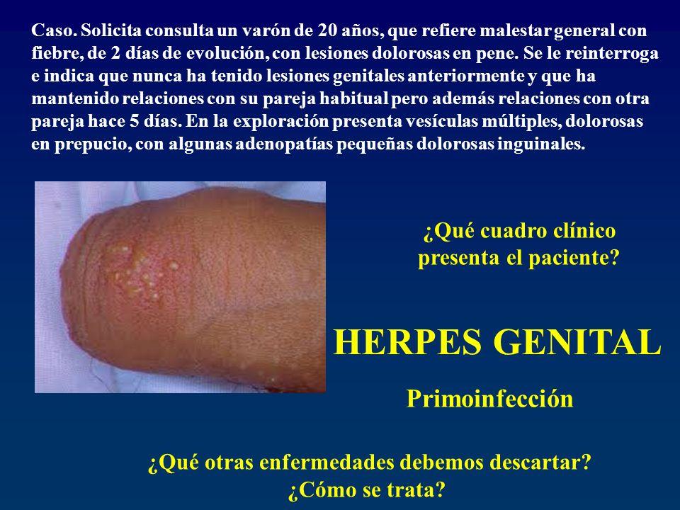 HERPES GENITAL Primoinfección