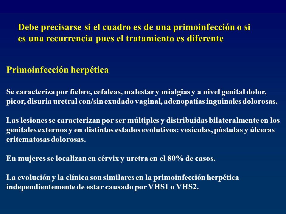 Primoinfección herpética