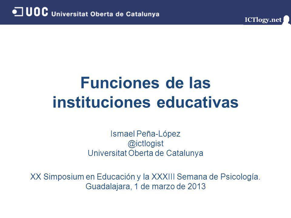 Funciones de las instituciones educativas